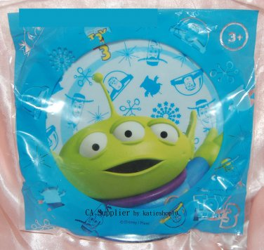 "Disney Pixar Toy Story 3 Alien - 8"" Round Light Blue Plastic Plate"