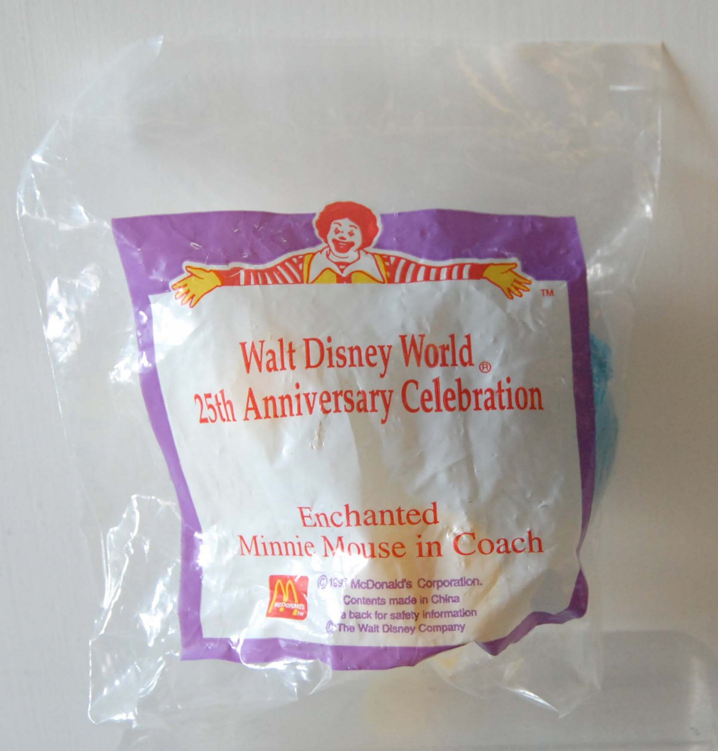 1997 McDonald's Disney Happy Meal Toy 25th Anniversary Enchanted Mickey Minnie Mouse in Coach
