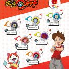 2016 McDonald's Happy Meal Toy Yo-Kai Watch Key Ring FULL Set of 6