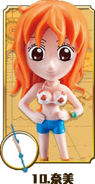 "2015 7-11 One Piece Figure w/ Prop- Nami 3.5"" H"