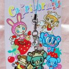 "Japan Brand Angel Blue Metal Plate Figure Strap Charm Mascot ""Envelop w/ Heart"""