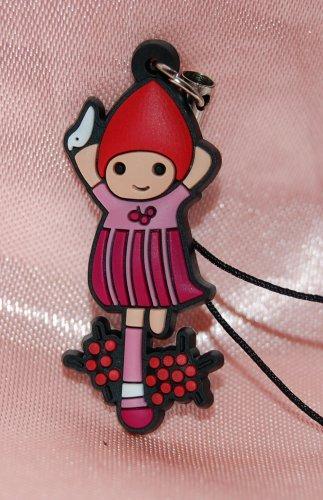 "Plastic Cute Girl Figure Strap Charm Mascot 1.25""H #2"