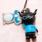 "2009 Bandai PVC Hard Figure w/ Drum Set Cell Phone Charm Strap Mascot Gashapon Capsule Toy 1.5""L #1"