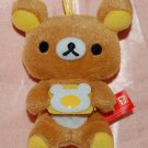2013 San X Hong Kong 7-11 Rilakkuma Relax Bear Cooking Collection MINI Plush Doll Strap