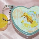"Yujin Disney Princess BELLE Heart Shape Mirror Key Chain Gashapon Capsule Toy 2"" dia"