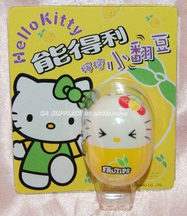 "2004 Sanrio Frutips Hello Kitty Yellow Lemon Fruit Tumbler 1.5""H"