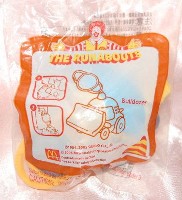 2005 Sanrio McDonald's Happy Meal Toy The Runabouts Soft Figure Key Ring - Bulldozer