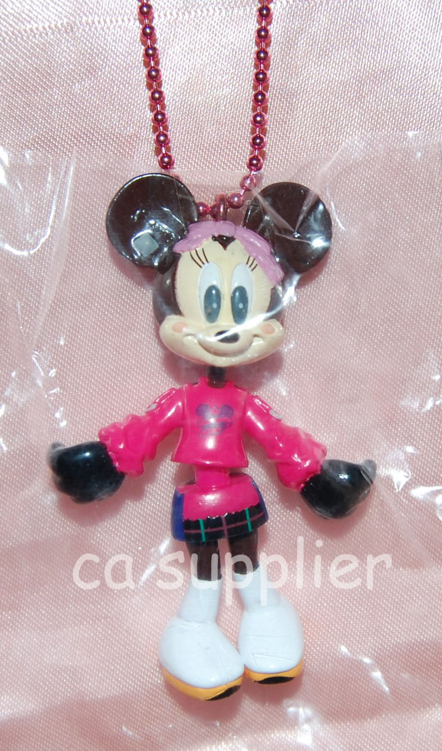 "Yujin Disney Mickey Mouse Minnie ""Minnie Up"" Key Chain Mascot Gashapon Capsule Toy 2.75""H #6"