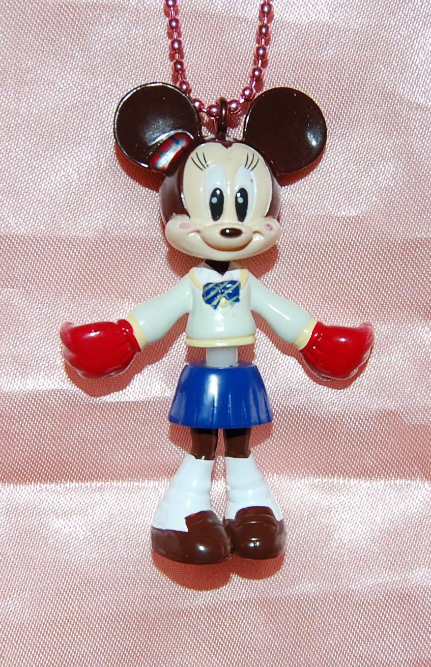 "Yujin Disney Mickey Mouse Minnie ""Minnie Up"" Key Chain Mascot Gashapon Capsule Toy 2.75""H #3"
