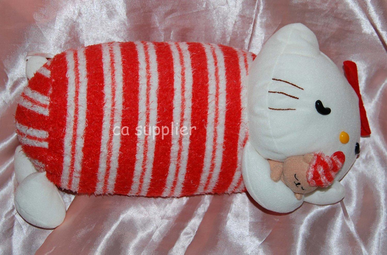 "Elkoh Sleeping Hello Kitty Plush Doll UFO Catcher Japan Prize 6.5"" x 13"" L"