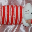 "Elkoh Sleeping Hello Kitty Plush Doll UFO Catcher Japan Prize 6.5"" x 13"" L"
