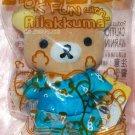 OK San X Rilakumma Relax Bear Hotspring Plush Doll Strap Mascot Stuff 12 cm H