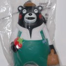 "Black Kumamon Bear Soft Vinyl Figure Key Chain Mascot Charm Strap 3.5""H"