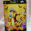 USED Disney Winnie the Pooh Octagon Halloween Metal Tin Can Mug