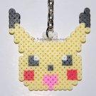 Perler Beads Hand Craft Art Pokemon Pikachu Head Figure Key Ring Charm Mascot