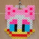 Perler Beads Hand Craft Art Daisy Duck Head Figure Key Ring Chain Charm