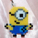 Perler Beads Hand Craft Art Despicable Me 2 Figure Key Ring Charm Mascot