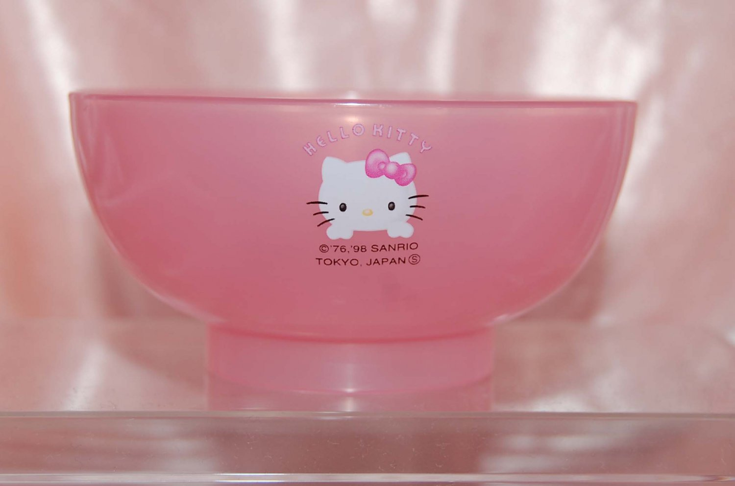 Hello Kitty Semi Transparent MINI Pink Rice Noodle Soup Bowl for Kids Made in Japan