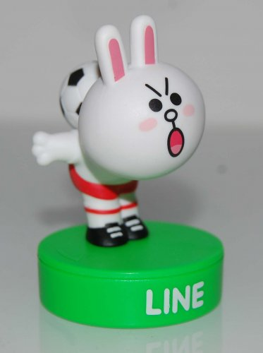 7-11 x Line Friends No.6 Cony Playing Football Figure Stamper - OMG