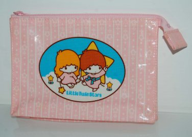 2000 Sanrio Little Twin Stars Pink Mini Pouch Bag w/ Zip Made in Japan