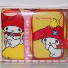 "2006 Sanrio My Melody Yellow Pouch Bag w/ Zip 3"" x 4.75"" x 1.75""thk & Yellow Handkerchief 8"" x 8"""