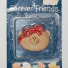 "Andrew Brownsword Forever Friends Bear Head Magnet 2""H #2"