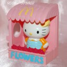 USED 2003 McDonald's Happy Meal Toy Hello Kitty Flowers Kiosk Stand