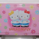 USED 1998 Sanrio Hello Kitty Metal Tin Can Box 24 cm x 13 cm x 3.5 cm H