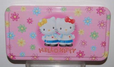 USED 1998 Sanrio Hello Kitty Metal Tin Can Box 24cm x 13cm x 3.5cmH