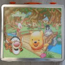 USED Disney Hongkong Disneyland Winnie The Pooh Eeyore Tigger Piglet Metal Tin Can Box