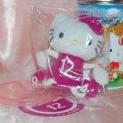 2006 Sanrio 7-11 Hello Kitty Plush Charm Strap Mascot w/ Metal Tin Can 12 September Cornflower