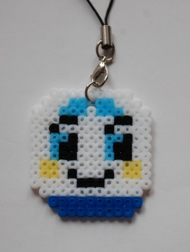 Perler Beads Hand Craft Art - Shinkansen Head Figure Strap Charm Mascot