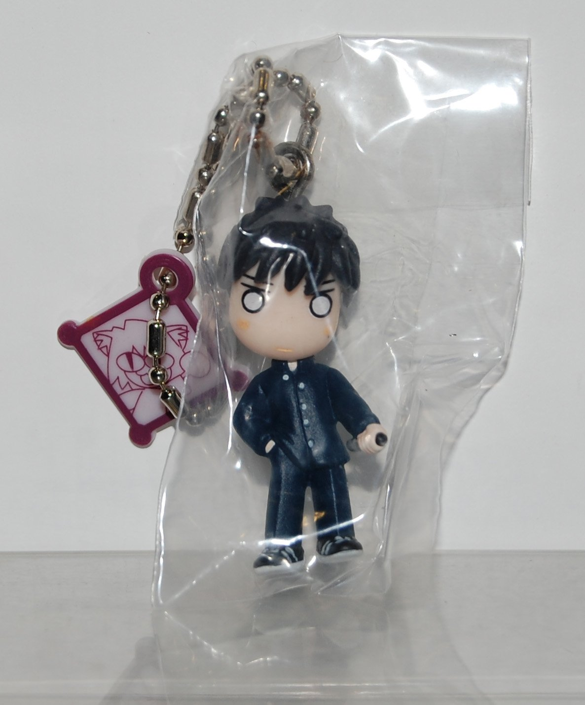 Yujin Gashapon Capsule Toy Melty Blood Figure Key Chain Shiki Tohno in Dark Blue Suit