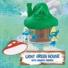2017 McDonald's Smurfs The Lost Village - LIGHT GREEN House with Smurfs Friends
