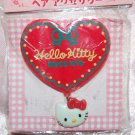 1994 Sanrio Hello Kitty Heart Shape Plastic Hair Clip 2.5""