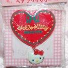 "1994 Sanrio Hello Kitty Heart Shape Plastic Hair Clip 2.5"""