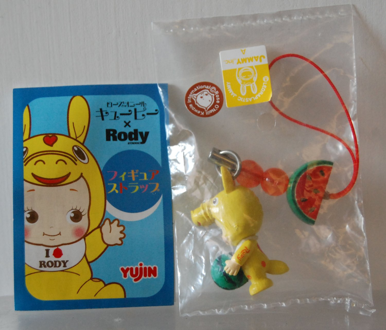 2007 Yujin Rose O'Neill Kewpie x Rody Figure Strap Gashapon Capsule Toy