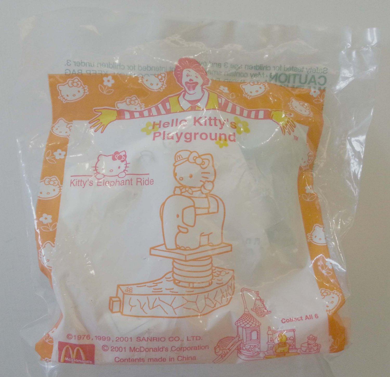 2001 McDonald's Sanrio Happy Meal Toy Hello Kitty's Playground - Kitty's Elephant Ride