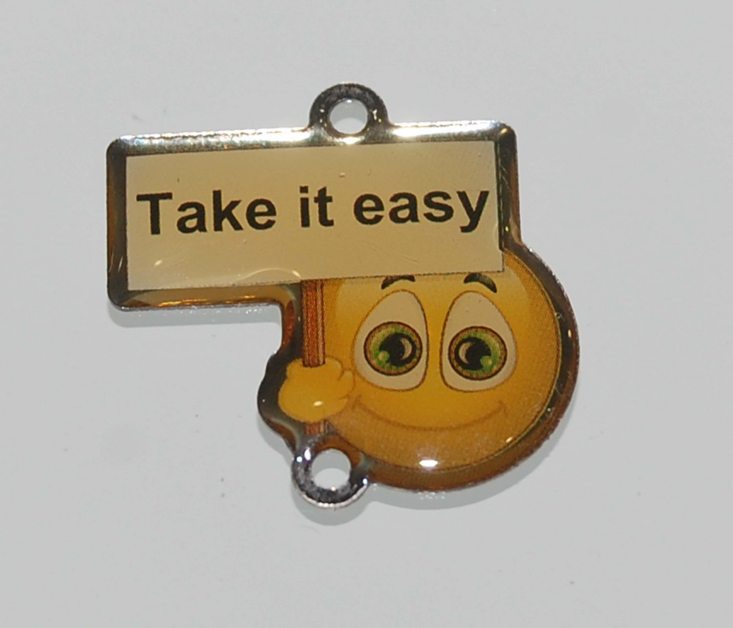 Hong Kong OK Convenient Store Metal Emoji Pendants - Take It Easy 2 cm