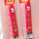 1991 Sanrio Hello Kitty Kids Red Spoon Fork Set