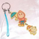 "Metal Phone Strap Charm Key Ring Mascot 2.75"" L"