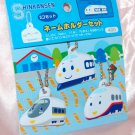 Sanrio Shinkansen Vinyl Name Tag Key Chain x 3 nos. Made in Japan