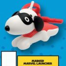 McDonald's Peanuts Happy Meal Toy Snoopy's World - Masked Marvel Launcher Key Ring