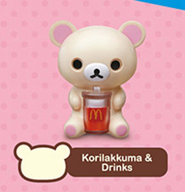 2018 McDonald's San Happy Meal Toy X Rilakkuma Bear - KoRilakkuma & Drinks