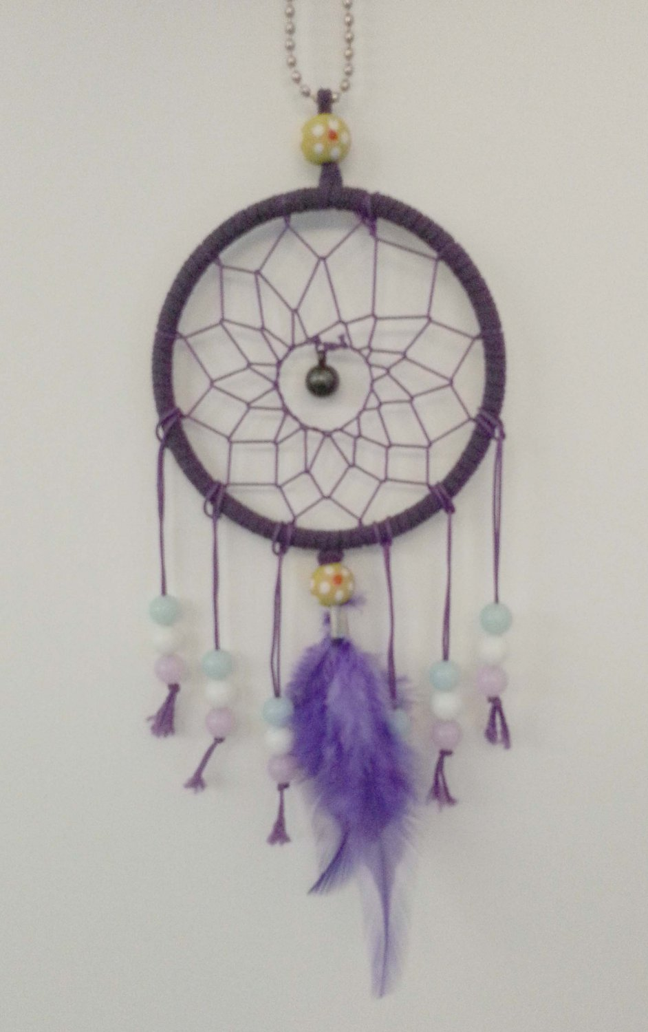 Handmade Dream Catcher w/ Feathers Beads Hanging Decoration Ornament Gift