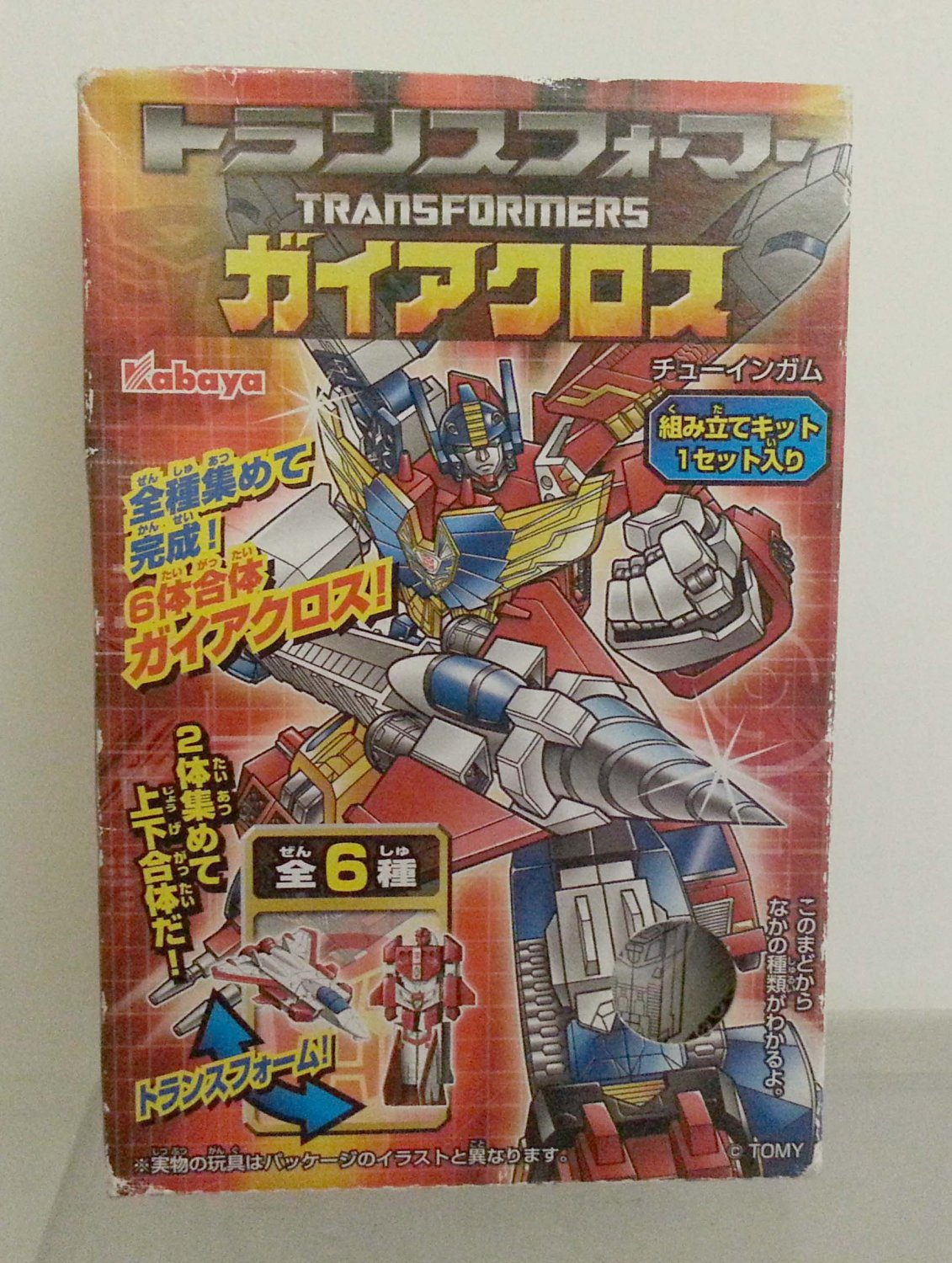 Kabaya Tomy Transformer Gaia Land Cross Candy Toy Model Kit #5 Made in Japan