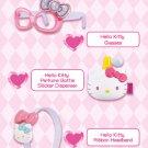 McDonald Sanrio Hello Kitty Purse Memo Pad Sticker Ribbon Headband Glasses Perfume Sticker Dispens