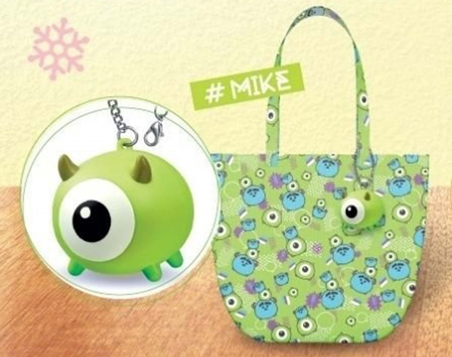 Disney 7-11 Tsum Tsum Limited Edition Monsters University Mike Capsule Keychain Eco Tote Bag