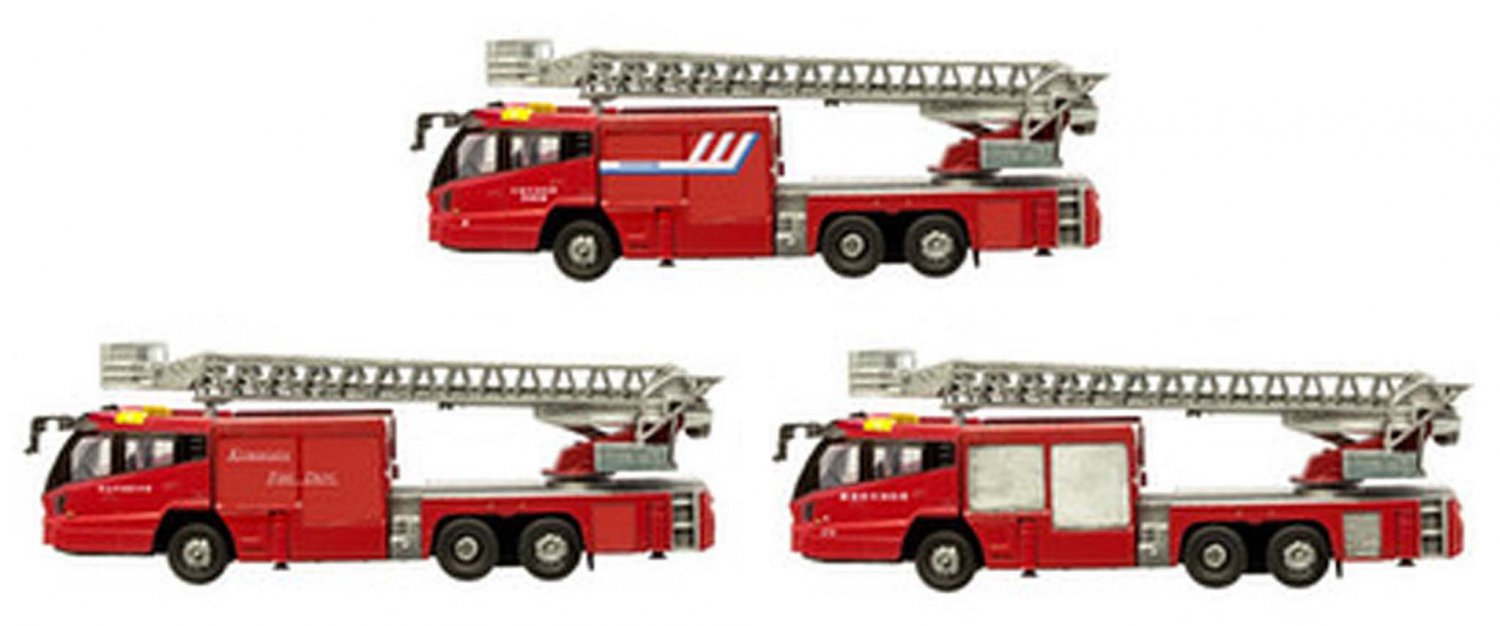 F Toys 1/150 Japanese State Extending Ladder 30m Ladder Fire Engine Vol 2 #3 MILL (H) 4-30S Set of 3