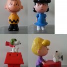 USED Mcdonald's Peanuts Happy Meal Toy Snoopy Lucy Charles Brown Schroeder 4 nos